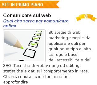 Comunicare sul web recensito in home page da AlterVista